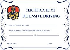 graphic relating to Defensive Driving Course Online Texas Printable Certificate referred to as 20 Great Safe and sound Behind Certification Template illustrations or photos within 2018