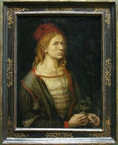 Albrecht Dürer (Nuremberg, 1471 - 1528)  Portrait of the artist holding a thistle