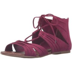 Carlos by Carlos Santana Women's Chloe Gladiator Sandal ($37) ❤ liked on Polyvore featuring shoes, sandals, gladiator sandal, gladiator shoes, greek sandals, roman sandals and flat sandals