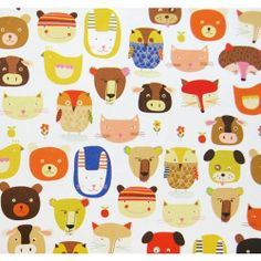 Caskata Eco Animals Single Sheet Gift Wrapping Paper
