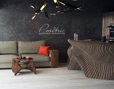 Parametric reception on Behance Parametric Architecture, Parametric Design, Architecture Portfolio, Modern Architecture, Parametrisches Design, Store Design, House Design, Zaha Hadid, Office Interior Design