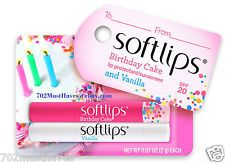 2 SOFT LIPS Moisturizing Lip Balm +SPF 20  Softlips • BIRTHDAY CAKE & VANILLA