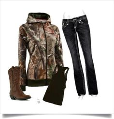 My kind of style. Minus the fake cowboy boots. ~ love this Camo sweater Country Girl Outfits, Country Girl Style, Country Fashion, Country Girls, My Style, Country Women, Sweet Style, Western Style, Country Life