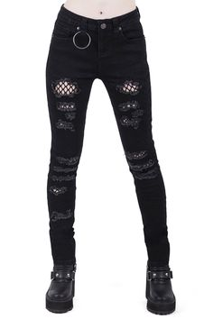 Shop our Women's Bottoms range - skirts, jeans, trousers, bell-bottoms, shorts & overalls. Cute Emo Outfits, Punk Outfits, Teen Fashion Outfits, Grunge Outfits, Punk Fashion, Cute Emo Clothes, Fashion Boots, Batman Outfits, Fashion Top