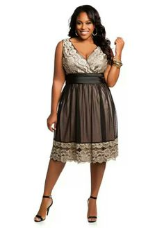 Ashley Stewart plus size lace dress Plus Size Lace Dress, Plus Size Dresses, Plus Size Outfits, Cute Dresses, Beautiful Dresses, Xl Mode, Mode Plus, Plus Size Fashion For Women, Plus Size Women