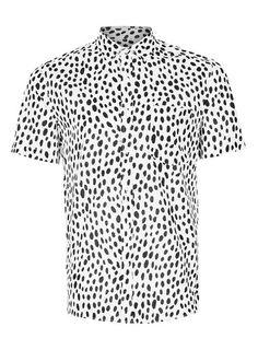 White Dotty Short Sleeve Casual Shirt - TOPMAN USA Casual Shirts 2e539563bc99