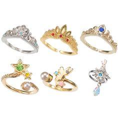 Disney Store Japan My Treasure Ring Kawaii Crystal Tiara Princess Crown Jewel #Disney #Band