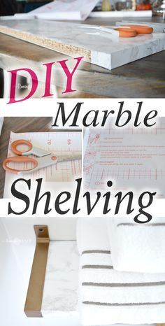 Do you love marble but don't love the price? I've got the perfect DIY project for you! Read on as I share a tutorial on how to create marble shelving.