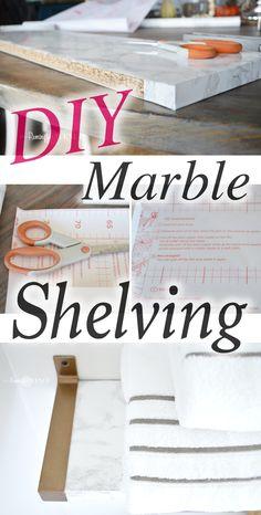 DIY Marble Shelving