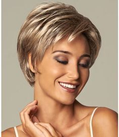 Gorgeous Blonde Wavy Short Synthetic Wigs, Synthetic Hair Comb Source by ethelnox Short Hair Cuts For Women, Short Hairstyles For Women, Short Haircuts, Haircut Short, Stylish Haircuts, Popular Haircuts, Gabor Wigs, Curly Hair Styles, Natural Hair Styles