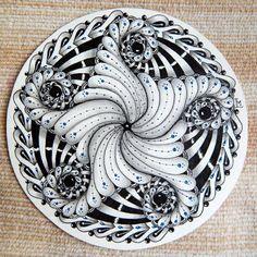 Zentangle doodle circle mandala