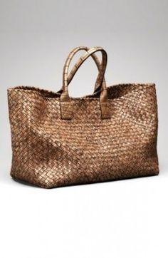 Bottega weekend bag, I wish Fashion Handbags, Tote Handbags, Fashion Bags, Beautiful Handbags, Beautiful Bags, My Bags, Purses And Bags, Cute Luggage, Summer Bags