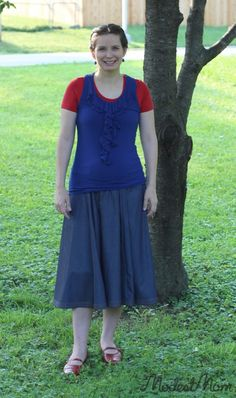 Patriotic Outfit for the 4th of July! Modest Monday Link Party!