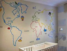 Pintamos un mural mapamundi | Decorar tu casa es facilisimo.com