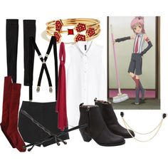 """Amu Hinamori- School"" by theearlmustang on Polyvore"