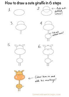Easy Animal Drawings, Easy Doodles Drawings, Easy Doodle Art, Easy Drawings For Kids, Simple Doodles, Art Drawings Sketches, Drawing For Kids, Cute Drawings, Art For Kids