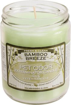 Pet Products By Royal - Pet Odor Exterminator Candle - Bamboo Breeze, $6.99 (http://www.petproductsbyroyal.com/pet-odor-exterminator-candle-bamboo-breeze/)