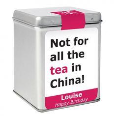 China Slogan Tea & Tin
