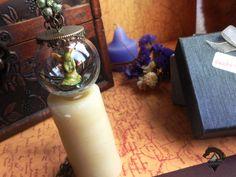 #magic #pendantmagic #esphere #pendant #handmade Esfera de Cristal. Mini mundo en esfera de vidrio.Hada en esfera. Mágico colgante de LOKAMIS en Etsy