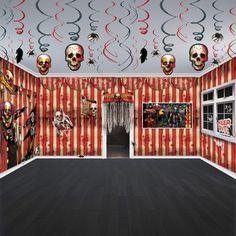 Halloween Horror CREEPY CARNIVAL Circus Party Scene Room Decorating Kit Set Pack #Amscan #Halloween