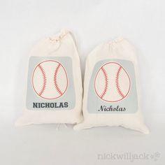 Baseball Favor Bags Set of 6 by nickwilljack on Etsy, $15.00