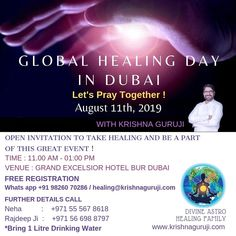Global Healing Day CeleBration dubai-11th Aug  Let's Pray Together  Every Time we And think Good For our and Others Now 11th Aug Is A Day Where We All Together Pray For Humanity And World Peace   #dubai #Astrology #Healing #Health #Divine astrohealing #reiki #remedy