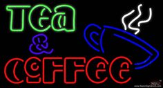 Double Stroke Tea And Coffee Real Neon Glass Tube Neon Sign,Affordable and durable,Made in USA,if you want to get it ,please click the visit button or go to my website,you can get everything neon from us. based in CA USA, free shipping and 1 year warranty , 24/7 service