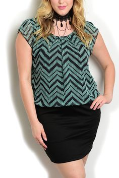 DHStyles Women's Mint Black Plus Size Dressy Layered Chevron Print Sheer Overlay Bodice Fitted Skirt Date Dress - 20 Plus #sexytops #clubclothes #sexydresses #fashionablesexydress #sexyshirts #sexyclothes #cocktaildresses #clubwear #cheapsexydresses #clubdresses #cheaptops #partytops #partydress #haltertops #cocktaildresses #partydresses #minidress #nightclubclothes #hotfashion #juniorsclothing #cocktaildress #glamclothing #sexytop #womensclothes #clubbingclothes #juniorsclothes…