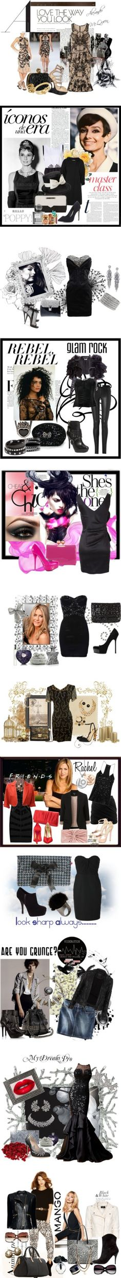 """Black"" by elena-indolfi on Polyvore"