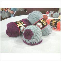 "Charity Preemie Hat free crochet pattern - 12"" circumference"