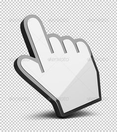 Hand cursor by AnatolyM Hand cursor. 3d image. Transparent high resolution PSD with shadows. Alpha channel.