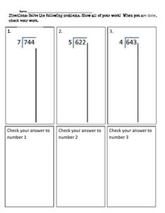1000 Images About Math Partial Quotient On Pinterest