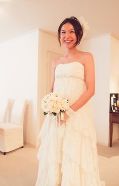 笑顔後とってもキュート♪元モデルの花嫁様♪