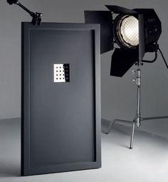 Duschwanne Longueur 100 - Duschwanne 100 cm, ultraflach, ENMARCADO schwarz