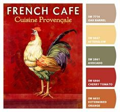 Browse 17 Best Ideas About French Country Colors On, Popular French Neoclassical Color Schemes Kitchen Color Themes, Kitchen Paint Colors, Paint Colors For Home, House Colors, Tuscan Paint Colors, Warm Kitchen Colors, Room Colors, French Country Colors, French Country Kitchens