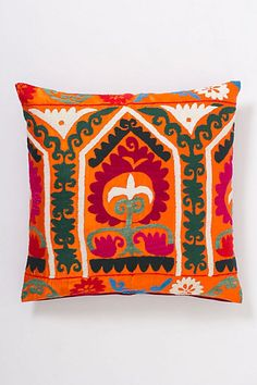 Embroidered Mizbah Pillow #anthropologie