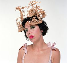 "Philip Treacy's ""Chinese Garden"" headdress, created for Alexander McQueen's 2005 spring/summer collection"