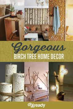 birch tree DIY room decor, see more at http://diyready.com/diy-room-decor-birch-trees