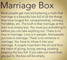 #marriage box +++For quotes + advice on #relationship and #love, visit http://www.hot-lyts.com/