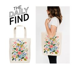 """Daily Find: Rifle Paper Co. Bag"" by polyvore-editorial ❤ liked on Polyvore featuring RIFLE and DailyFind"
