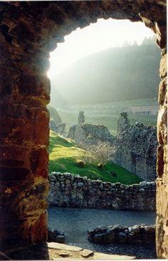 View of Loch Ness, Scotland ~ Urquhart Castle.