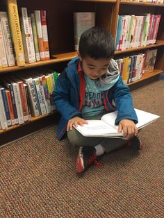 Sometimes a book is so good that you have to stop in the library aisle and read it right away.   Submitted by Lao K.