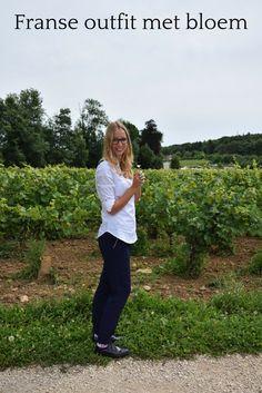 French fashion inspiratie! Een pantalon met witte blouse. Netjes en leuk!