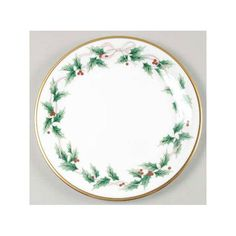 Mikasa 'Ribbon Holly' - Christmas China Patterns You'll Love for Your Southern Home  - Southernliving. Buy It: $34 for dinner plate; replacements.com