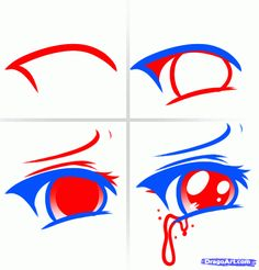 how to draw anime eyes crying step by step for beginners - Google Search