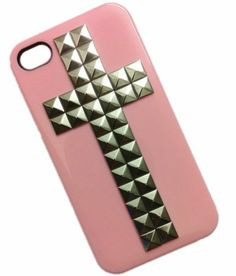 DIY Punk Cross Style Cell Phone Protective Skin for iPhone 5 Mobile Phone Case Rivets Silver by Westlinke. $9.66
