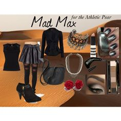 """""""Mad Max for the Athletic Pear"""" by stevie-sm-williams on Polyvore  http://sneakygeekyfashion.blogspot.com/2015/01/were-gonna-give-em-back-their-heroes.html"""