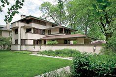 A Frank Lloyd Wright home in Oak Park