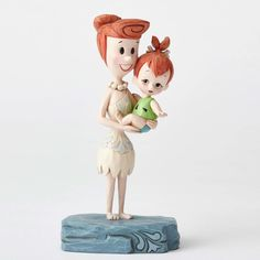 "5.5"" Wilma and Pebbles Flintstones Figurine Figure Statue Home Decor"