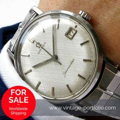 Original Omega Seamaster serviced with Linen-Dial and stunning Omega Steel Bracelet. #OmegaSeamaster #Omega #Menswatches